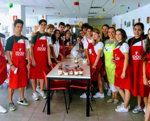 Taller de cocina con alumnos de Secundaria